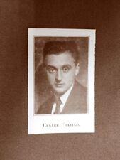 Stampa del 1923 Cesare Fratino Collaboratore dell'Illustrazione Italiana