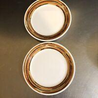 Syracuse China Syralite Restaurant Ware Woodridge Bread Plates Set 2 Made USA