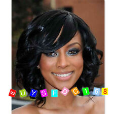 Synthetic Hair Short Loose Wave Hairstyle Women Natural Hair Wigs + Free wig cap