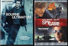 The Bourne Ultimatum (DVD, 2007)  & Spy Game (DVD, 2002, Widescreen; C.E., DVD)