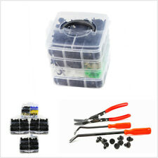 650Pc Plastic Bumper Rivet Retainer Clips Pry Plier Set Fastener Remover Car Kit