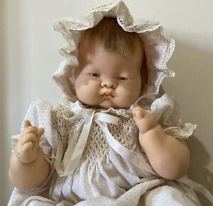 "Vintage 1960 E. Wilcox Vogue cloth & vinyl original Baby Dear doll 18"" tall"