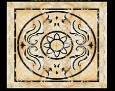 """36"""" Black Marble Side Dining Table Top Handmade Inlay Art Furniture Decor H4995"""