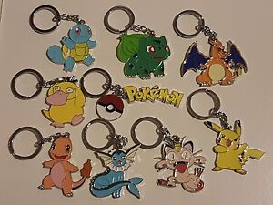 Pokemon Go Quality Metal Key Chains Rings Pikachu Charamander UK Seller