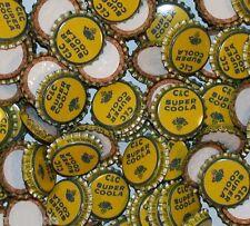 Soda pop bottle caps Lot of 25 C and C SUPER COOLA with palmetto tax symbol cork