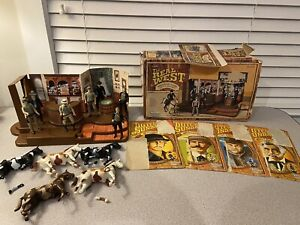 1979 Kenner Real West Western Cafe With Box & Lot of 7 Butch & Sundance Figures
