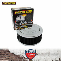 """Aeroflow Chrome Air Cleaner Assembly 6-3/8"""" x 2.5"""" with Washable Filter Element"""