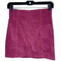 Free People Womens Maroon Corduroy Skirt  Size: 4   Pencil Red Skirt