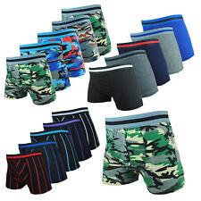 10x Boxershorts Jungen Retroshorts Pants Unterhosen Baumwolle Set Gr. 86-152 NEU