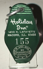 Rare Vintage Holiday Inn Hotel Room Key & Fob Macomb, Ill. Rm#155
