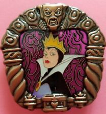 Disney pin stained glass villain evil queen snow white story frame LE 400