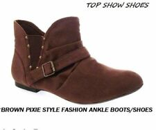 Flat (less than 0.5') Suede Party Boots for Women