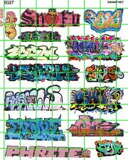 6027 DAVE'S DECAL HO SCALE DECALS URBAN CITY STREET GRAFFITI TRAIN BOXCARS WALLS
