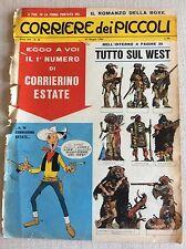 CORRIERE DEI PICCOLI FIGURINE DA RITAGLIARE INDIANI TRAPPERS TUTTO SUL WEST '65