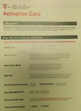 1 New Tmobile activation kit without Sim. T-mobile Activation Code New Prepaid
