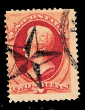 USA Early 2¢ Vermilion Handed Canceled With A Shaded Star - Exceptional