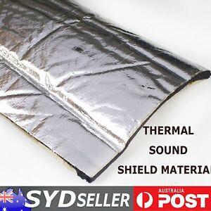 Adhesive Heat Shield Insulations Sound Proofing Auto Hood Noisy Thermal Blocker