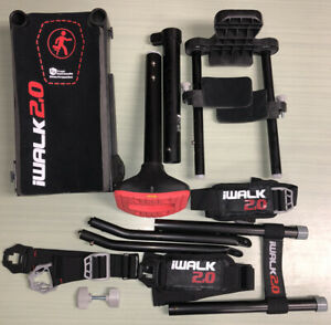 iWALK 2.0 Hands Free Crutch I Walk Knee Mobility Aide Black Scooter Alternative