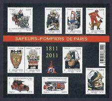 2011 Bloc n° F4582 Brigade des SAPEURS-POMPIERS de PARIS - NEUF**LUXE