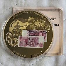 Billete De 10 chelines retrato Serie C 2010 50mm a prueba de medalla-cert. de autenticidad