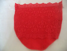 Gorgeous, lined all lace red modesty panel