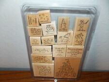 Stampin Up Dreams & Dragons Castle Unicorn Mushroom 16 Wood Mount Stamps L1216