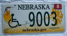 """BIRD GRAPHIC WHEELCHAIR HANDICAPPED DISABLED PERSON LICENSE PLATE """" & 9003 """" NE"""