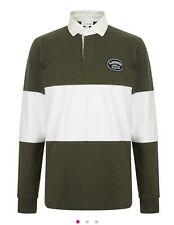 Lacoste Rugby Top Khaki Green And Cream Size Large 5 Brand New With Tags
