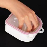 Hand Nail Art Bowl Manicure Remover Tray Soak Off Warm Water Bowl Hot New