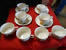 """Vintage SIMPLICITY China """"The Hallmark of Quality""""4 Cups & Saucers & FREE 4 Cups"""