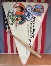 Vintage Louisville Slugger Wood Baseball Bat Signed Reggie Jackson w/Event Flag