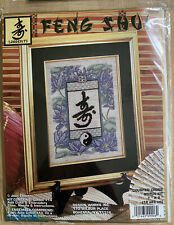 """Longevity"" Feng Shui Counted Cross Stitch Kit By Joan Elliott New"