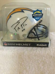 PHILIP RIVERS Riddell Mini Helmet San Diego LA Chargers Faux Autograph  2012 STH