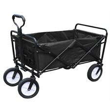 4 Wheel HD Folding Garden Trolley Cart Wagon Pull Along Wheelbarrow Shopping Car