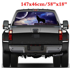 147x46cm Wolf Pattern Graphic Decal Car Rear Window Sticker Exterior Accessories