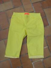 pantacourt droit jaune citron My favorite Cache Cache 38 coton élasthanne état 9