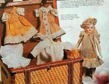 """All Bisque Mignonette 5.5"""" doll 10 pieces Wardrobe Pattern"""