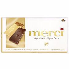 3 x Merci - Bar of Chocolate (Coffee & Cream / Kaffee-Sahne) 300g / 0.66lbs