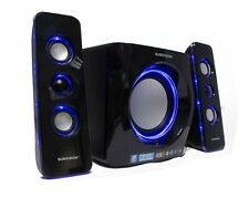 Sumvision N Cube Pro 2 2.1 Bluetooth 15W LED Speaker Subwoofer for PC Laptop