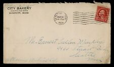 DR WHO 1924 SAND POINT ID MACHINE CANCEL BAKERY ADVERTISING C38133