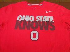 "Nike  ""Ohio State Knows"" Red T Shirt  Buckeyes   Medium  Regular Fit   Tee   G7"