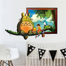 Wall Stickers Cartoon Totoro Cat 3D Decals Poster Mural Wall Paper For Kid Rooms