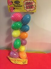 Vintage 1960's-70's Peoria Plastic Colorful Easter Eggs In Package Rare