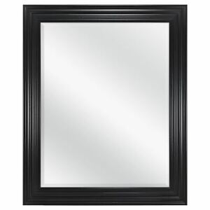 "Mainstays Classic Beveled Wall Mirror, 27"" x 33"" Black"