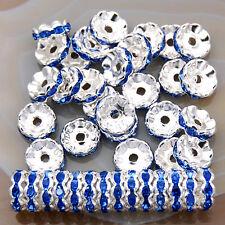 100PCS Czech Crystal Rhinestone Wavy Rondelle Beads 4mm 5mm 6mm 8mm 10mm 12mm