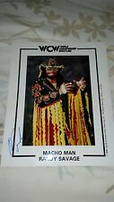 Macho Man Randy Savage autographed  Promo Picture. Hall of famer  WWF/WWE/WCW