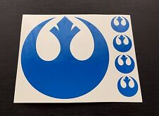 Stickers Decals Star Wars Alliance Rebel BLUE fit Cars Bus Lorry Tablets Wall