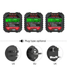 Electric Outlet Tester Power Socket Wall Plug Voltage Wire Testing Useuuk Plug