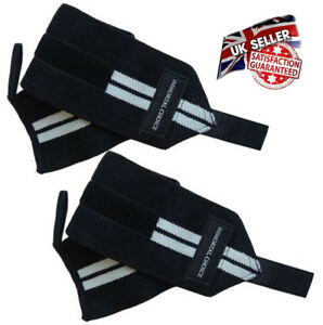 2x Immortal Power Weight Lifting Wrist Wraps Supports Gym Training Fist Straps