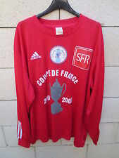 VINTAGE Maillot COUPE de FRANCE porté n°10 rouge 2002 2003 collection shirt XL